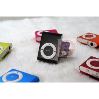 Máy nghe nhạc MP3(đen) vỏ nhôm,kẹp áo+ tai nghe+ cáp sạc