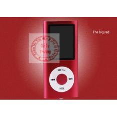 Máy Nghe Nhạc Mp4(màu đỏ,nghe được FM radio)+ cáp sạc+ tai nghe nhét tai(có loa ngoài)