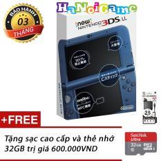 Máy Nintendo New 3DS LL Metallic Blue đã HACK FULL kèm thẻ nhớ 32GB (Xanh) HaNoiGame