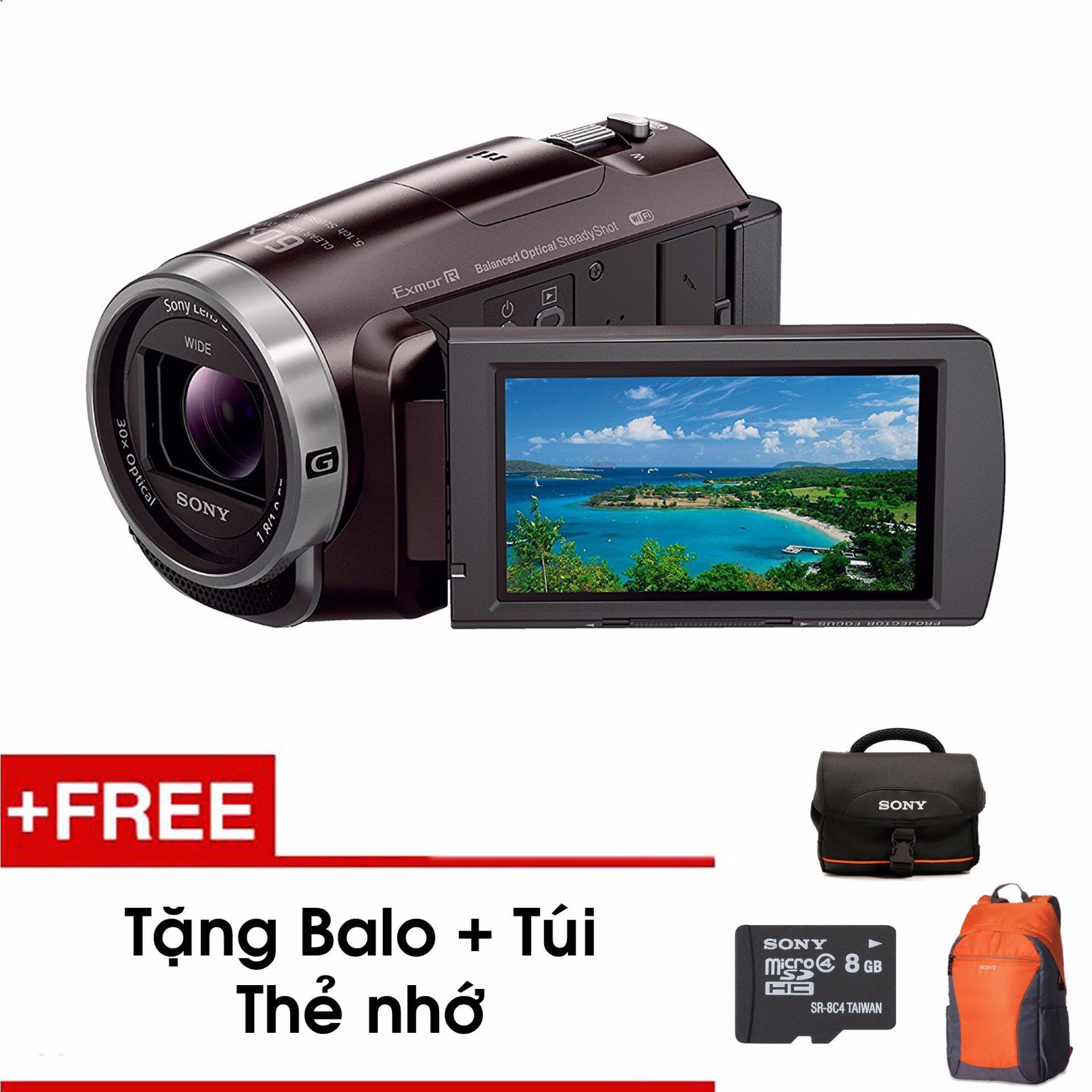 Máy quay cầm tay Sony PJ675 tích hợp máy chiếu (Đen) – Tặng thẻ nhớ – Túi – Balo du lịch Sony – Hàng phân phối chính hãng