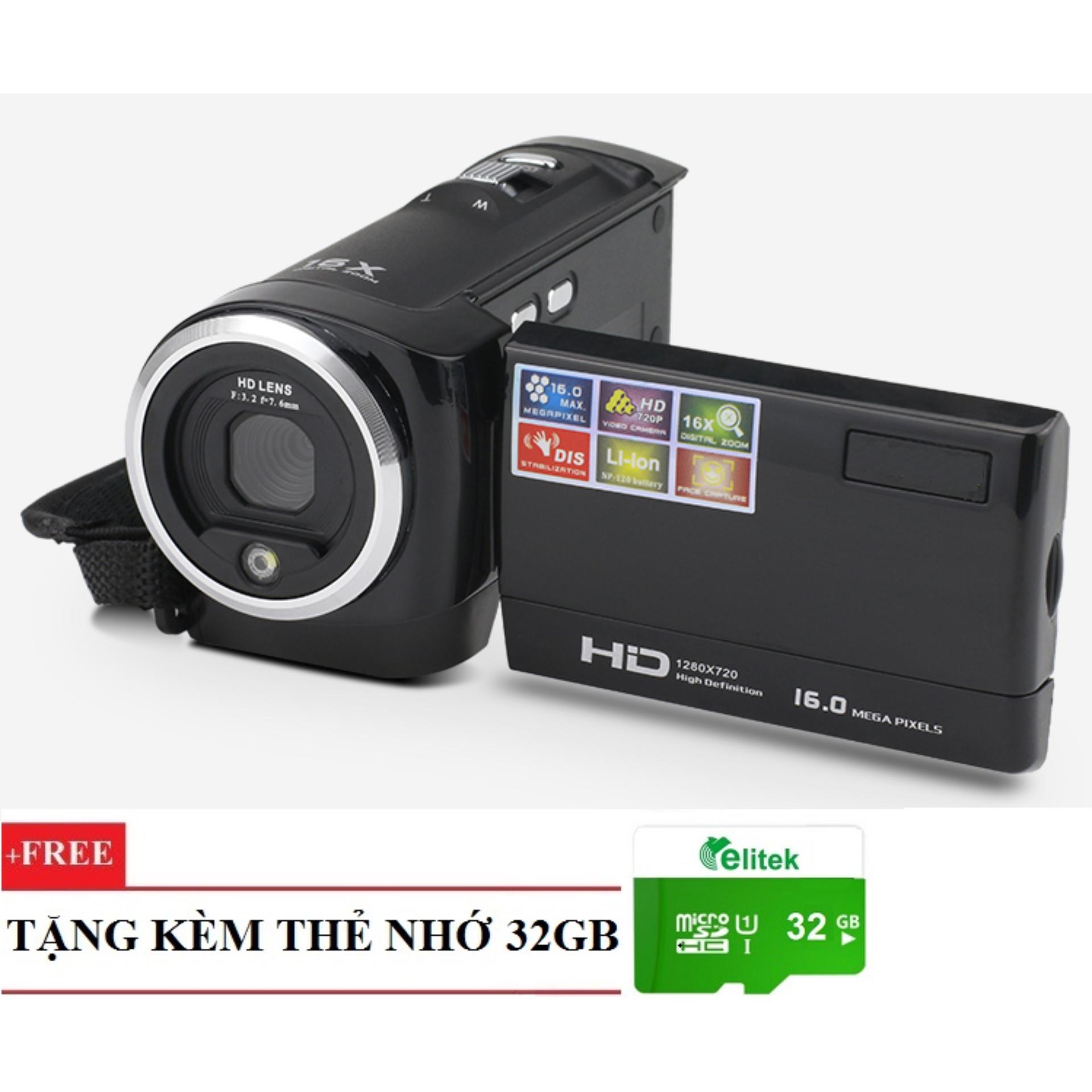 Bảng Báo Giá Máy quay phim cầm tay ELITEK HD Digital Video 16X + Tặng kèm thẻ nhớ 32GB