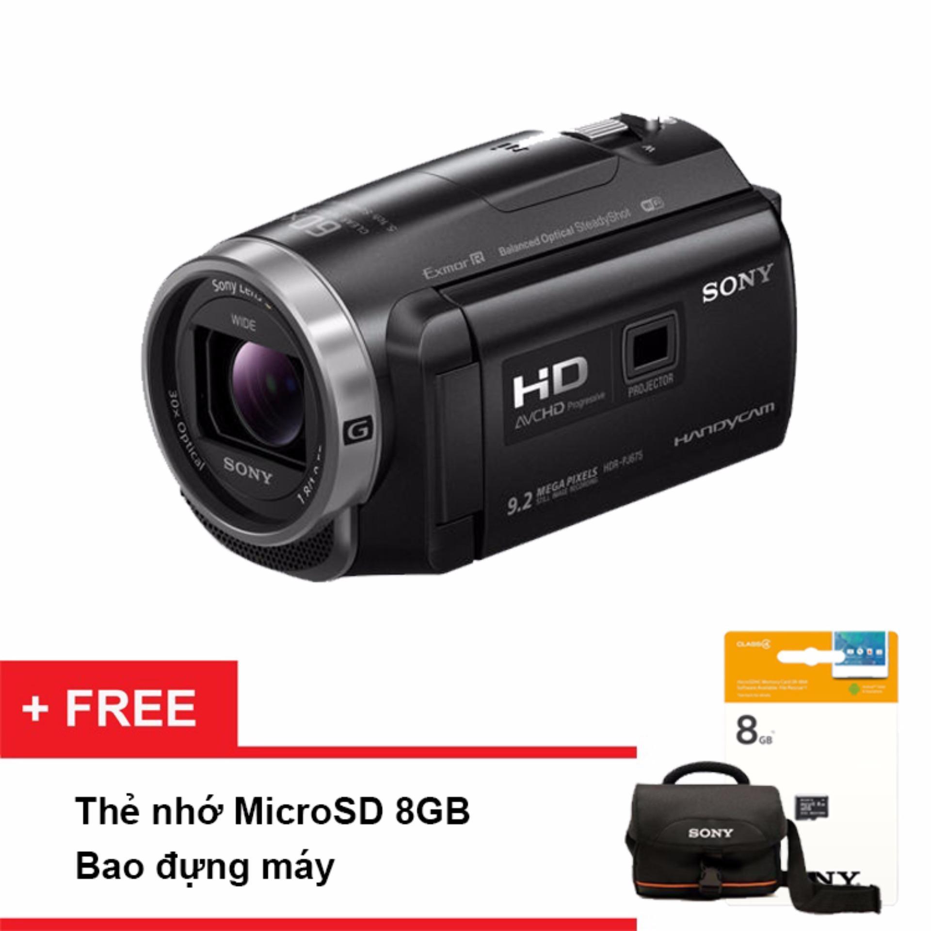 Nơi nào bán Máy quay phim Sony PJ675 (Đen) -Tặng thẻ nhớ microSD 8GB + túi đựng máy