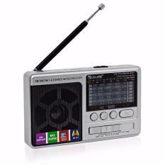 Máy radio cầm tay nghe nhạc mp3 usb thẻ nhớ sạc dự phòng RX