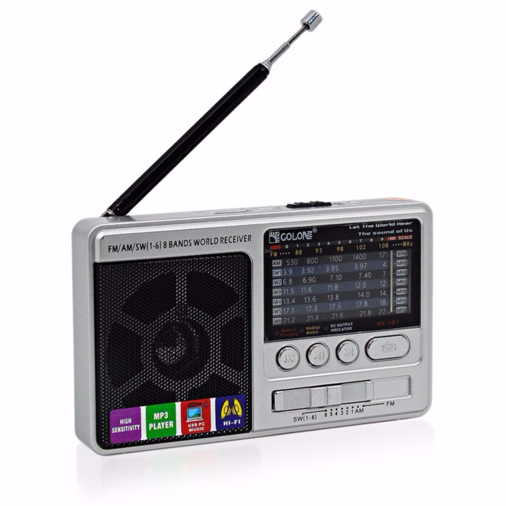 Chỗ bán Máy radio cầm tay nghe nhạc mp3 usb thẻ nhớ sạc dự phòng RX