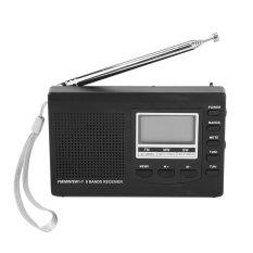 Máy Radio FM / MW / SW  Mini xách tay với đồng hồ kỹ thuật số (xám) - Quốc tế