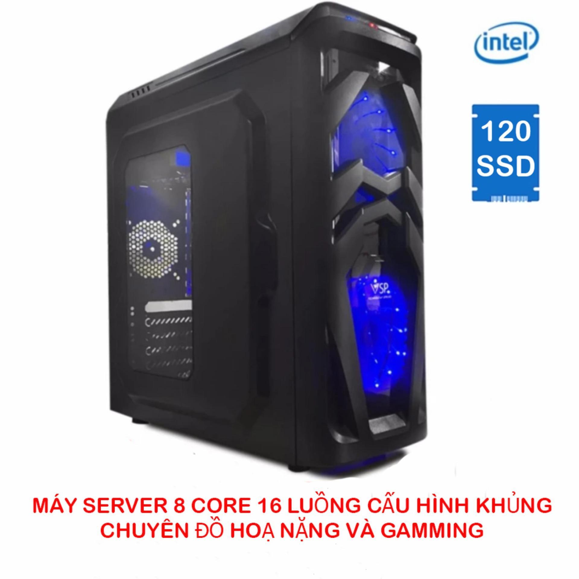 Máy tính chơi game 8 lõi 16 luồng 32Gb ECC DDR3/120Gb SSD SATA3 (6Gbps) chuyên đồ hoạ (cấu hình 13)
