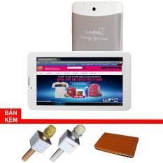 Máy tính bảng cutePad M7022 wifi/3G, 7″, 8GB (Trắng bạc)+Bao da Nâu+ Micro Karaoke tích hợp loa Bluetooth cutePad TX-Q705 ngẫu nhiên- Hãng phân phối chính thức