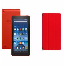 Máy tính bảng Fire 8GB Wifi (Đỏ) + Bao da đỏ – Hàng nhập khẩu