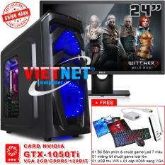 Máy tính chiến game core i7 2600 card GTX-1050 RAM 16GB 1TB + LCD Dell 24in VietNet