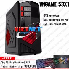 Nơi mua Máy tính chơi game VNgame 53X1 core i5 3470 GTX750 8GB 500GB (chuyên LOL, GTA 5, Battelground, Overwatch)