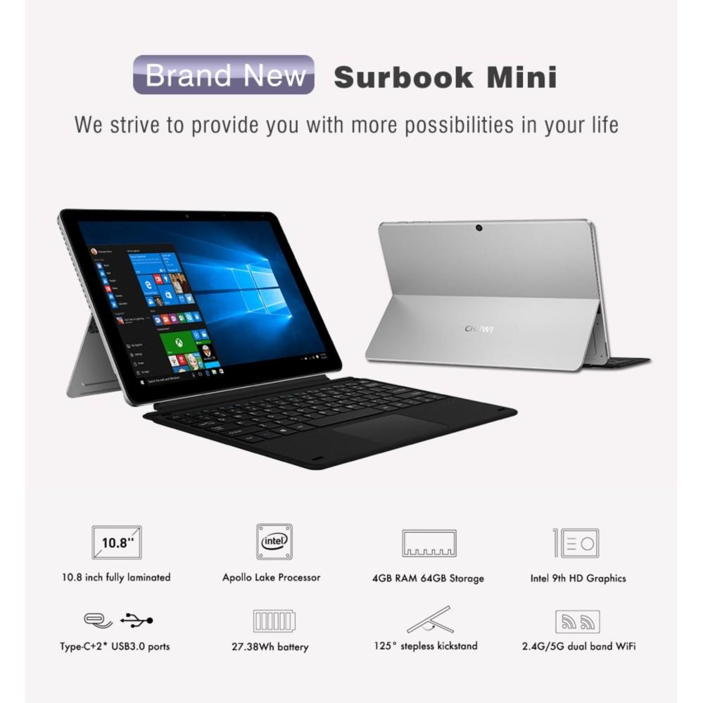 Tablet chuwi Surbook Mini 10.8 Inch tặng dock bàn phím và kính cường lực