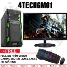 Máy tính để bàn chơi Game 4TechGM01 Core i3, Ram 4GB, HDD 500GB, VGA rời GT630, Màn 19.5inch (chuyên LOL, FiFa) – Tặng phím chuột Gaming DareU.