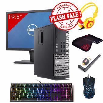 Máy tính để bàn DELL OPTIPLEX 790 SFF + Màn hình Dell 19.5Inch (Core i3 2120, Ram 8GB, HDD 3TB) + Quà Tặng - Hàng Nhập Khẩu
