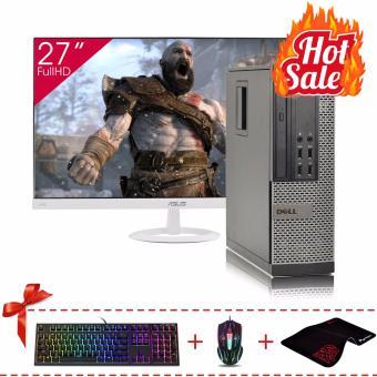 Máy tính đồng bộ DELL OPTIPLEX 790 SFF + Màn hình Asus 27Inch Full Viền (Core i7 2600, Ram 8GB, SSD 120GB) + Quà Tặng - Hàng Nhập Khẩu