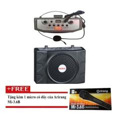 Máy trợ giảng Hong Kong Electronics SN-898 (Đen) + Tặng Micro Arirang 3.6B (có dây)