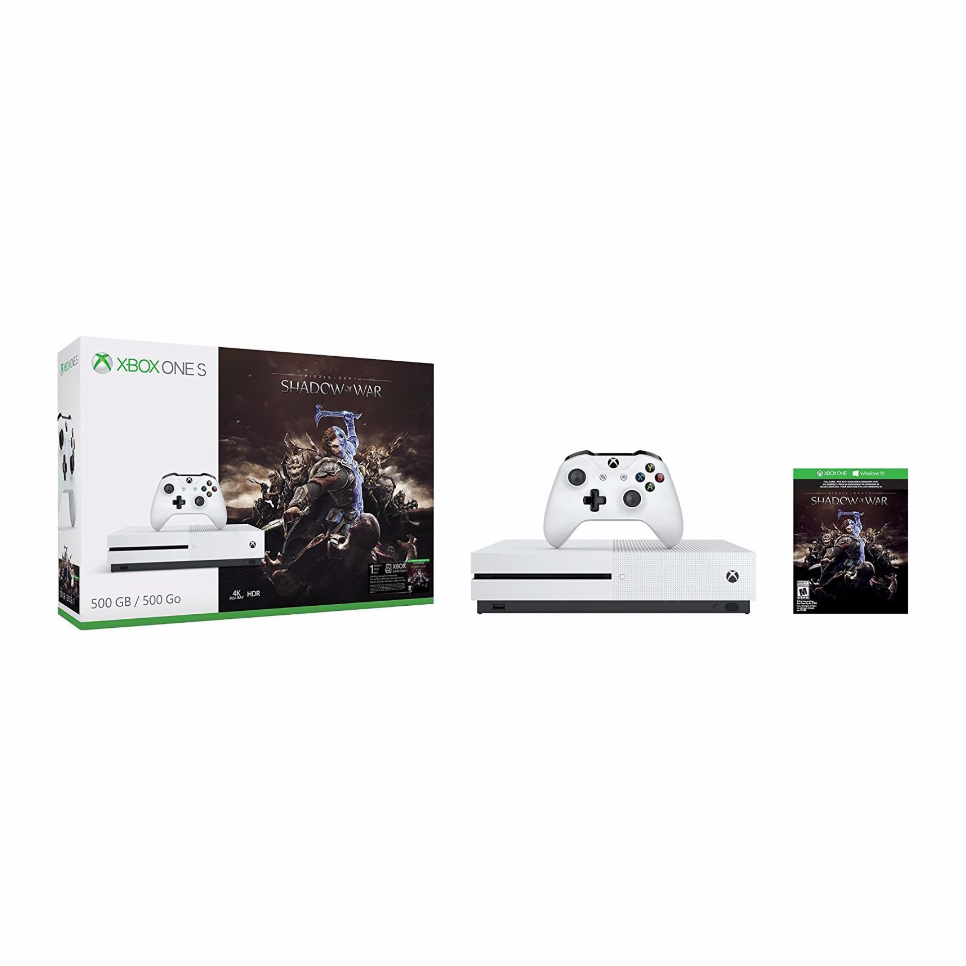 Trang bán Máy Xbox One S 500GB Console – Middle Earth Shadow of War Bundle (hàng nhập khẩu)