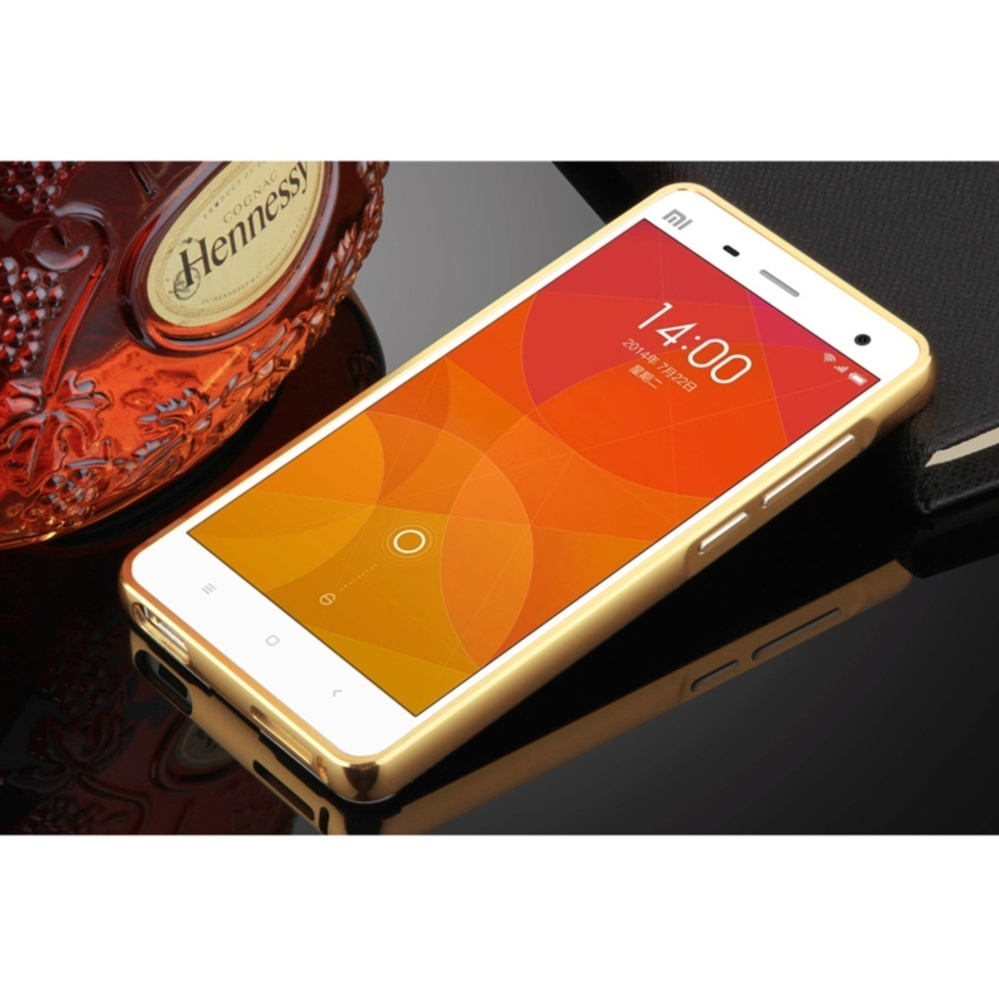 Metal Bumper and Mirror PC Back Cover For Xiao mi 4 - intl ...