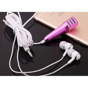 Mic mini hát Karaoke, Livestream online có cả tai nghe trên điện thoại