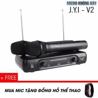 Micro karaoke không dây J.I.Y V2 - Tặng đồng hồ thể thao