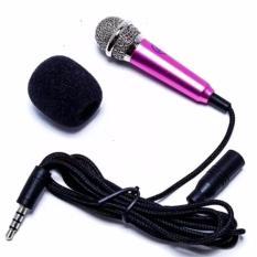 Micro mini hát Karaoke trên điện thoại(mic Hồng)