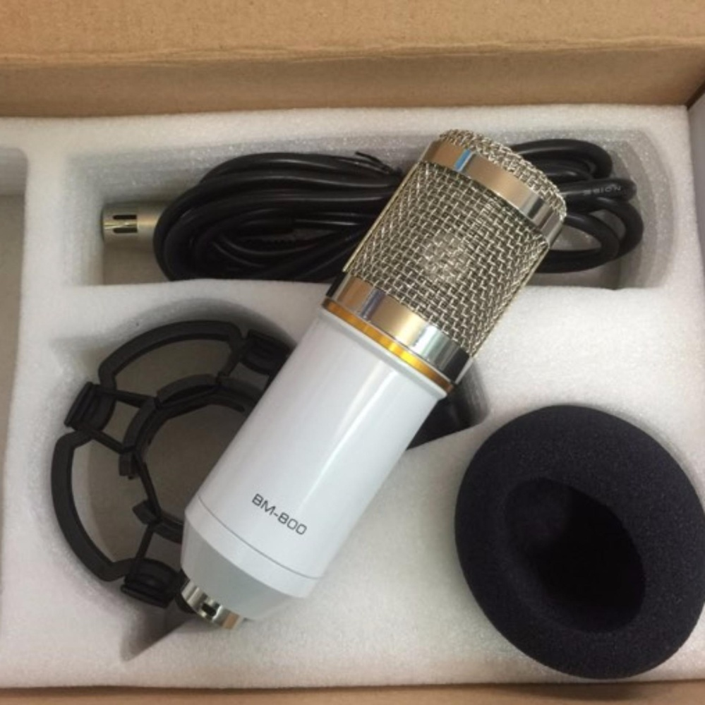 Nơi Bán Micro Thu Âm BM 800 ( có in BM800) + chống sốc – livestream trên soundcard