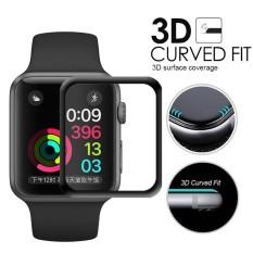 Miếng dán cường lực 3D full màn hình cho Apple Watch 38mm và 42mm (Applea iWatch) độ cứng 9H bảo vệ tuyệt đối