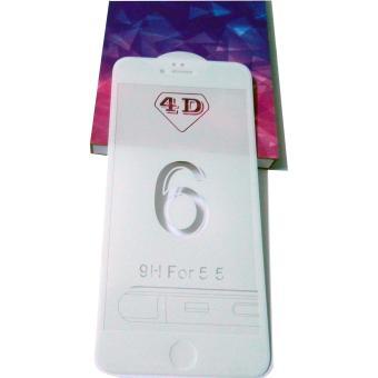 MIẾNG DÁN CƯỜNG LỰC 4D FULL MÀN HÌNH CHO IPHONE 6 PLUS, 6S PLUS (MÀU TRẮNG )