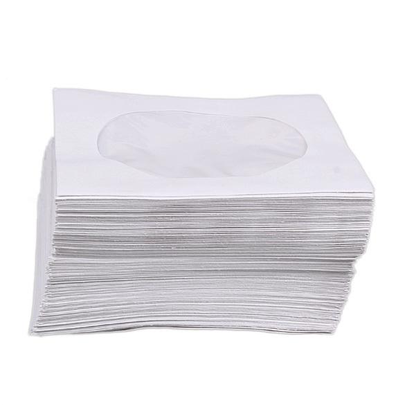 Nên mua Mini 95Pcs Protective White Paper CD DVD Disc Storage Bag Envelopes Flap (Intl) ở crystalawaking