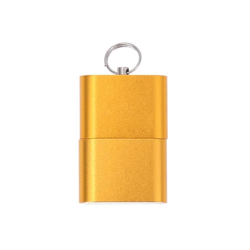 Mini Hợp Kim Nhôm USB 2.0 t Đèn Flash TF Micro SD Adapter Đọc (Vàng) (Vàng)-quốc tế