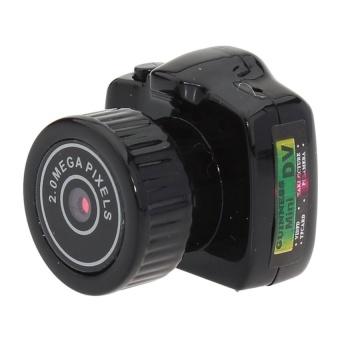 Mini HD Digital DV Webcam Camera Video RecorderCamcorderY2000(Black) - intl