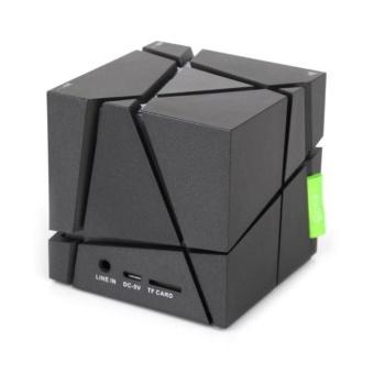 Mini Portable Cube LED Stereo Wireless Bluetooth Speaker for SmartPhone TabletBK - intl