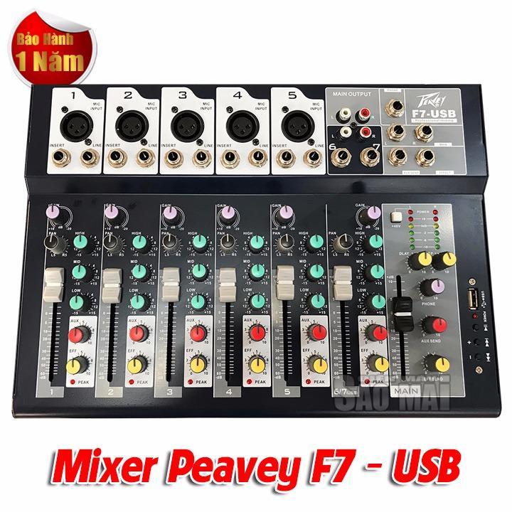 Mixer bàn mini PEAVEY F7- USB cho gia đình và sân khấu ngoài trời.