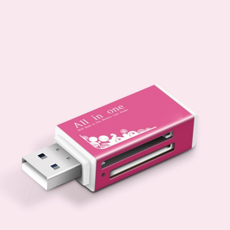 Bảng giá Moonar New USB 2.0 All in 1 Multi Memory Card Reader for Micro SD SDHC TF M2 MMC MS PRO ( Pink ) - intl Phong Vũ