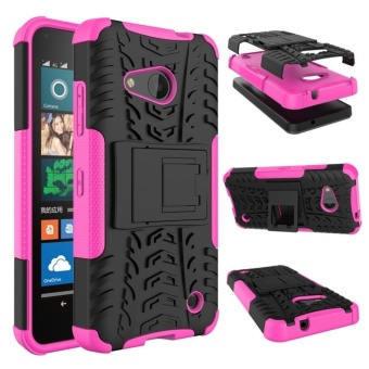 Mooncase Case For Microsoft Lumia 550 Detachable 2 in 1 HybridArmor Design Shockproof Tough Rugged Dual-Layer Case Cover withBuilt-in Kickstand Hotpink - intl