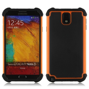 Mooncase Case For Samsung Galaxy Note 3 (N9000) HybridSilicone Skin Case Shock Absorption Durable Dual Layer 2 in 1Anti-Slip TPU Case Cover Orange - intl
