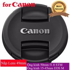 Nắp Đậy Ống Kính Lens Cap Trước Canon 49 mm