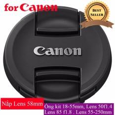 Nắp Đậy Ống Kính Lens Cap Trước Canon 58 mm