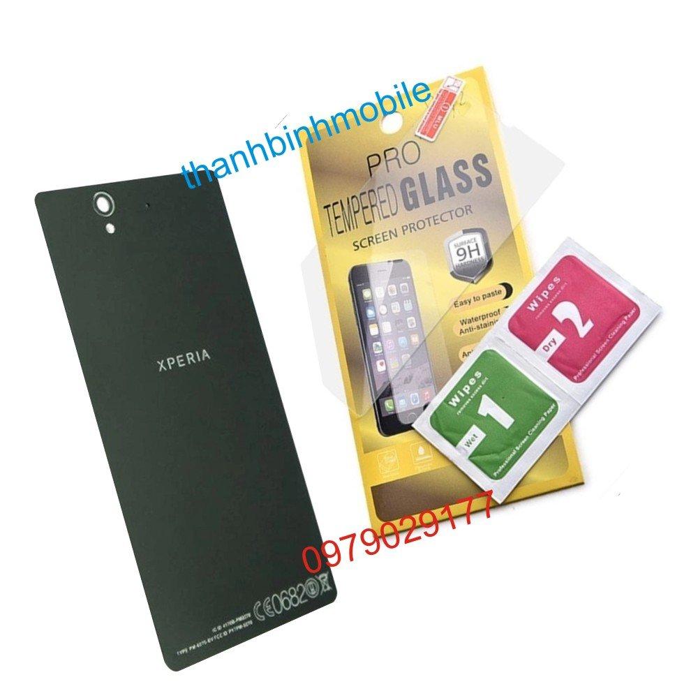 Nắp lưng dành cho Sony xperia z (Đen) + Tặng miếng dán cường lực