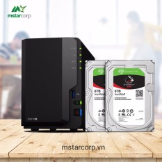Combo Synology NAS DS218+ và HDD Seagate ironwolf