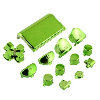 New Full Buttons Mod Chrome Green For Sony Playstation 4 PS4Controller Gamepad - intl