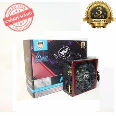 Nguồn công suất thực VSP A500W chuyên game đồ họa – Fan 12cm đèn led 4 màu (đen)