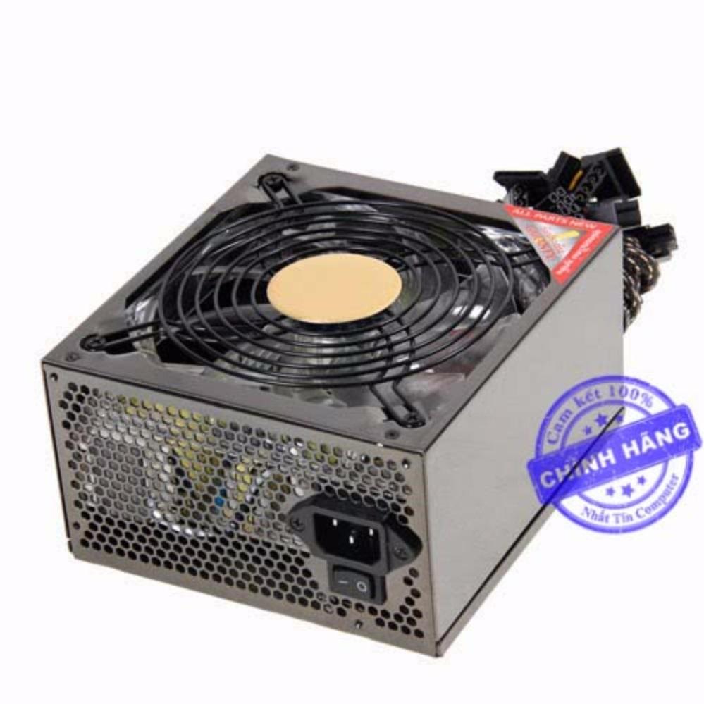 Mua Nguồn dành cho máy tính bàn DTech 650W Fan 12cm – công suất thực 350W (xám) + tặng kèm dây nguồn ở đâu tốt?