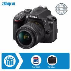 Nikon D3400 và lens kit AF-P DX Nikkor 18-55mm f/3.5-5.6G VR – Chính hãng + Tặng thẻ nhớ SD 16GB + Túi Nikon