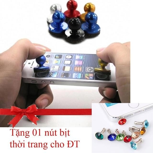 Nút điều khiển chơi game loại mới nhất JOYSTICK-IT 2 – cho các bạn mê game Tặng núm che bụi cho tai nghe điện thoại
