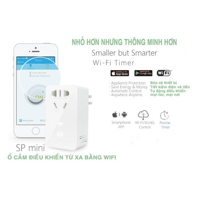 Bảng giá Mua Ổ cắm điện điều khiển từ xa Wifi và hẹn giờ Broadlink ( Nhập khẩu)