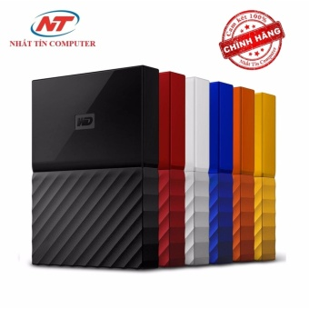 Ổ cứng di động HDD Western Digital My Passport 2TB - Model 2017 (Vàng)