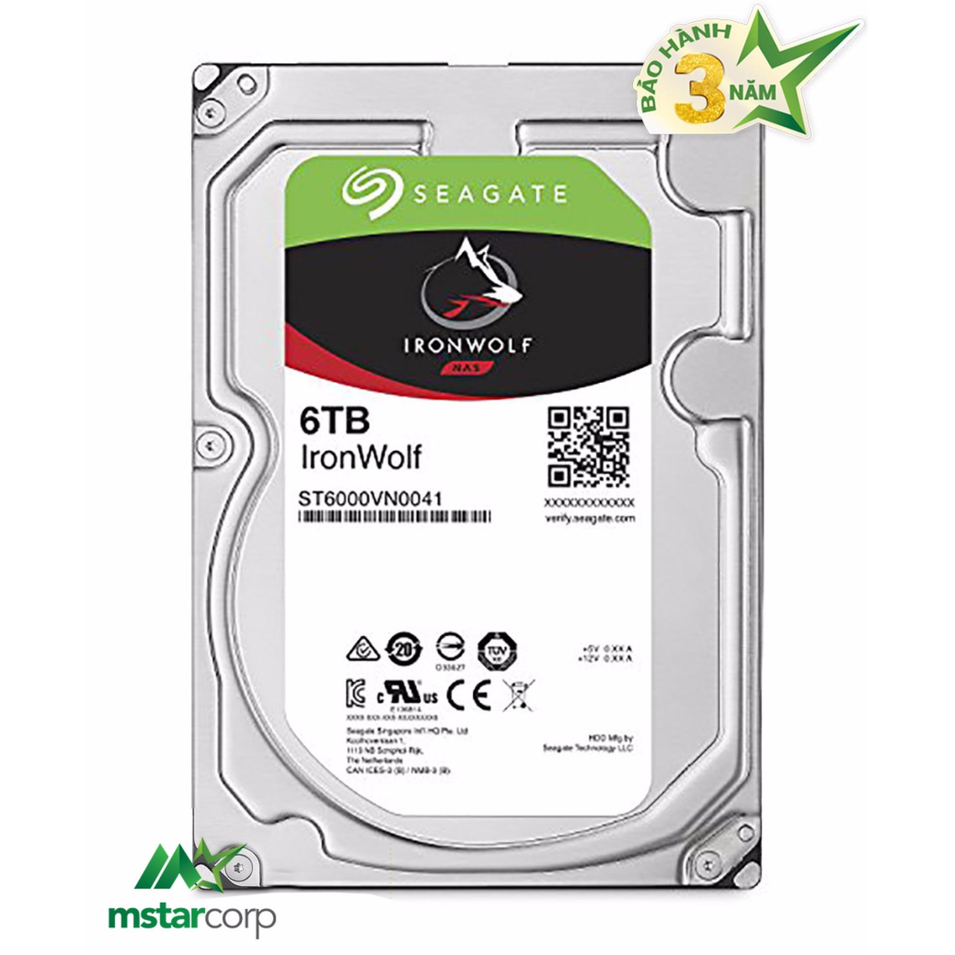 Ổ Cứng HDD NAS Seagate IronWolf 6TB - ST6000VN0041