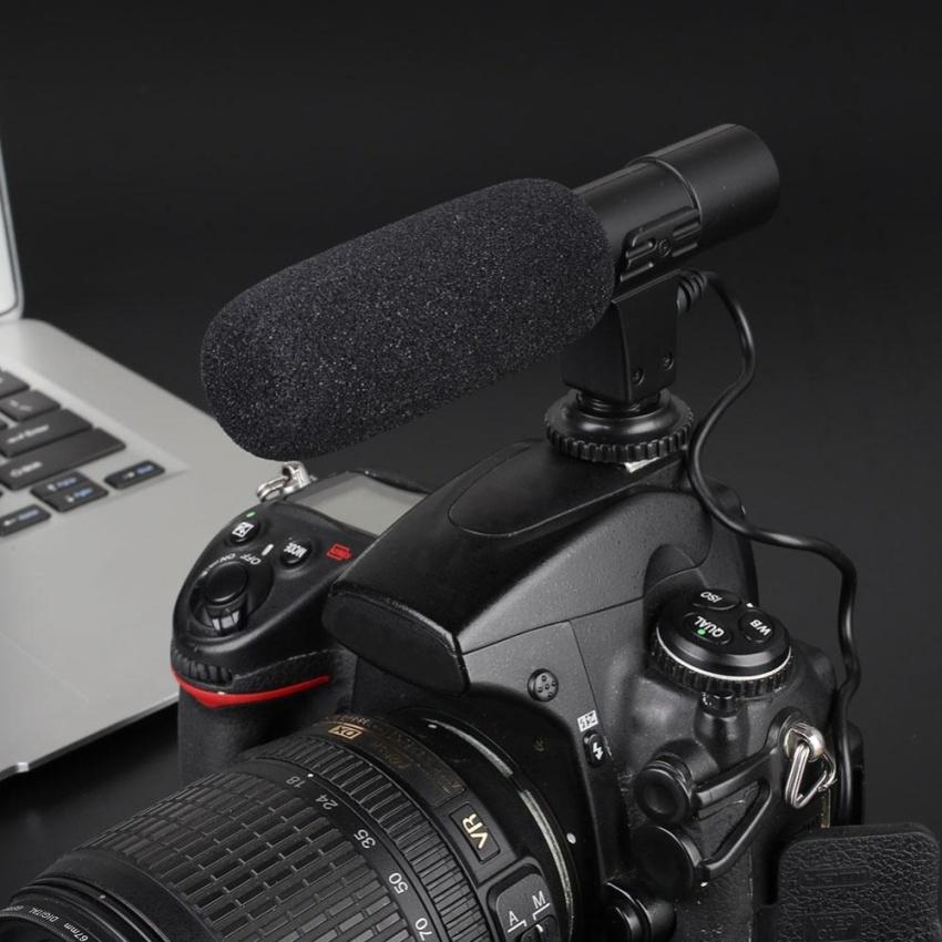 Hình ảnh On-Camera Video Shotgun Stereo Recording Microphone Mic For DSLR Camera - intl