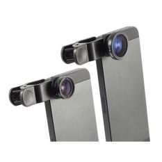 Ống kính 3 trong 1 cho điện thoại iPhone – (Đen)
