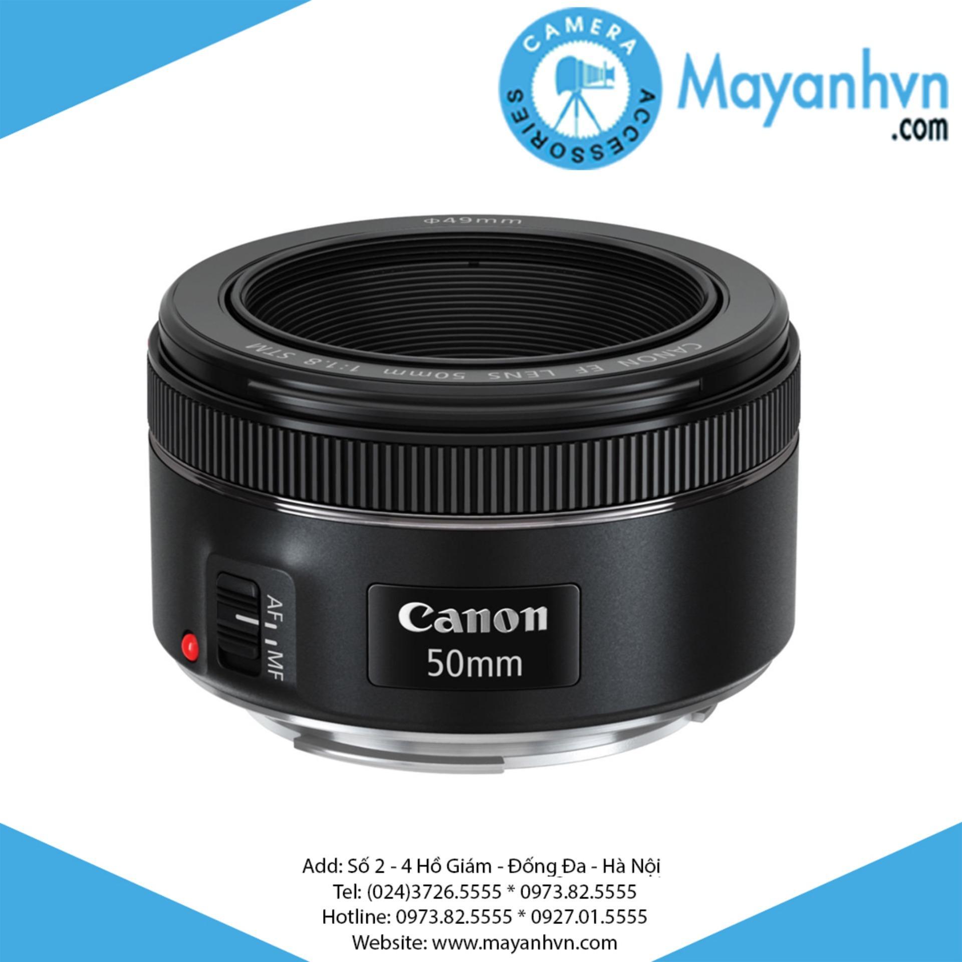 Ống kính Canon EF 50mm F1.8 STM (Đen) – Hàng chính hãng Lê Bảo Minh